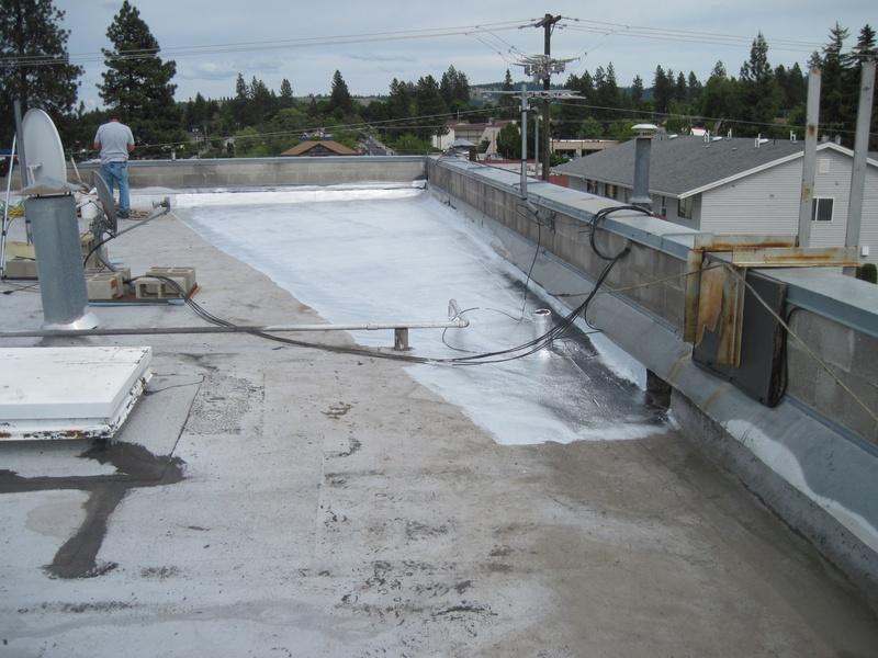 Installing aluminium coating